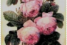 ROSES IN CROSS STITCH / COLLECTION OF ROSES IN CROSS STITCH