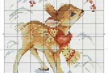 CHRISTMAS CROSS STITCH SMALL PROJECTS.