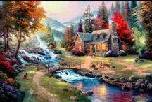 T KINKADE ART (landscapes)