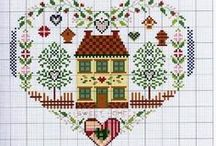 HEARTS IN CROSS STITCH