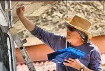 Murales de San Isidro 2012 - Guernika y Miguel con cebolla / Imágenes sobre mi participación como diseñador y muralista en el homenaje a Miguel Hernández en el barrio de San Isidro de Orihuela (Alicante) 2012