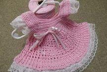 Crochet for baby and kid / Vestitini e golfini per neonati e vestiti per bambini