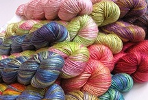Yarn and patterns-Plus SCARVES&HATS / All I find that feeds my knitting addiction, and since hats and scarves are my favorite things to knit, it all goes together! / by Amy Burgess