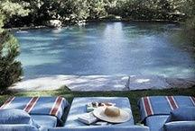 Pools & Outdoor Spaces - Gracious Living www.DanielleDRollins.com / Pools, Pool houses, Cabanas & Stylish Structures & Surrounding Gardens