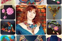 My beaded creations / My handmade beaded and bead embroidered jewelry with semi-precious stones, leather, fur, etc. Enjoy!