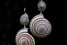 Seashell/glass jewellery