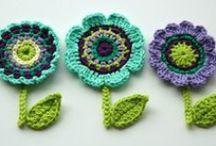 szydełkowanie/crochet - kwiatki/flowers