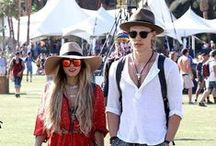 Festival Music Outfits / The most original styles, looks and outfits: hippy, boho chic, gypsy, colorful and extravagant flooding the floor of the most famous music festival in the world...Coachella!
