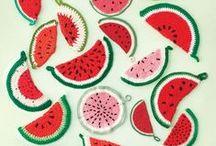 szydełkowanie/crochet - owoce/fruits