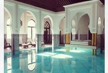 Swimming Pools / Great indoor and outdoor pools, with different styles: Balinese pools, Moroccan pools, Persian pools and a world of deep turquoise