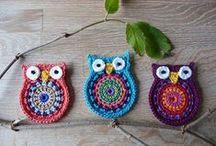 szydełkowanie/crochet - sowy/owls