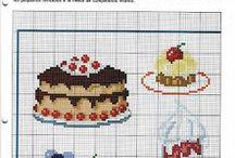 haft krzyżykowy/cross stitcher - ciasta/cakes