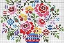 haft krzyżykowy/cross stitcher -kwiaty/flowers