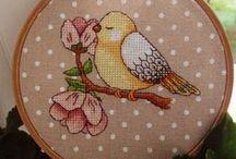 haft krzyżykowy/cross stitcher -ptaki/birds