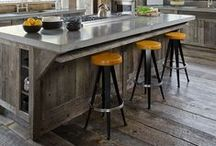 Weathered Wood Ideas / Trends / Weathered Wood is a popular trend in 2015. It's beautiful, warm, and cozy. Who wouldn't want to incorporate weathered wood trends into a room. From finishes to accessories weathered wood is a beautiful option to add to a home.