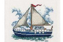 haft krzyżykowy/morskie/marine