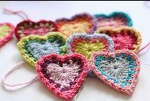 szydełkowanie/crochet - serca/hearts