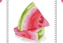 haft krzyżykowy/cross stitcher -owoce/fruit