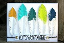 Cards - feathers