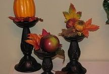 Fall Decorating / Using dollar store finds to make fabulous fall accents for your home.