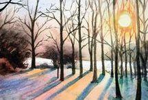 landscape paint / landscape