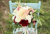 Beautiful Wedding flowers / Gorgeous wedding flowers for a beautiful, vintage, shabby chic wedding.