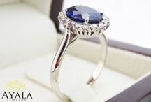 Gemstone Rings / Unique Design Rings with Sapphire, Ruby, Topaz, Aquamarine, Tanzanite, Emerald, Tourmaline and more.