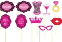 Bachelorette Party Photo Booth Props & Backdrops