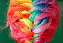 Mermaid Hair / This board of dedicated to the bright, bold and colourful hairstyles I can only dream of having!  Hair, beauty, hair style, mermaid hair, unicorn hair, hair colour