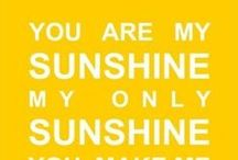 Here Comes the Sun / I bestow onto you, a sunny show of cheerful yellow happiness!  / by Lily