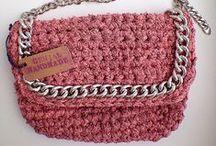 t-shirt crochet bag / сумки, связанные трикотажными нитками trapillo