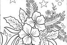 TEGNING - JUL / Jule-tegninger for fargelegging