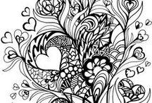 TEGNING - Diverse småtegninger / Tegninger for fargelegging
