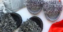 t-shirt yarn slippers / Slippers and flp-flops  from t-shirt yarn Тапочки и сандалии из трикотажной пряжи