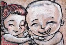 STREETART lovedbyStijlburospot / Straat tekeningen al la bansky