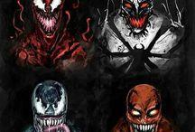Venom, Anti-Venom, Carnage. - (Marvel).