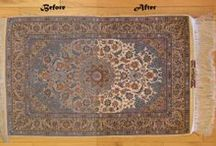 Before and After Cleaning Photos / See the differance when you clean rugs at Serafian's Oriental Rugs!
