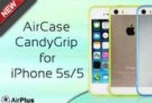 AirCase CandyGrip for iPhone 5s/5 / One piece snap on anti scratch, smooth and HD UV coated crystal clear back with see through bumper which adds an additional elegant look to your iPhone with extra protection to the sides.