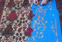 Serafian's at Work! / Photos of the Serafian's crew cleaning, repairing, handling rugs.