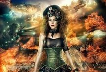 "Steampunk, Diesal punk and Neo Victorian fascinations / Steampunk fashion, photo's, and digital art, Diesal punk additions... :), Neo Victorian, jewelry, clothing, furnishings, and landscapes. Pin as much as you like.  / by The Dragons ""Hoard""...."