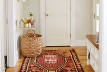 Oriental Rugs in Hallways and Entrances / Welcome your guests to walk on art!