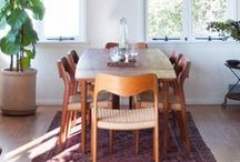 Oriental rugs in a Dining Space / Effortlessly and elegantly bring family and friends together by incorporating color, texture, and art through Oriental Rugs!
