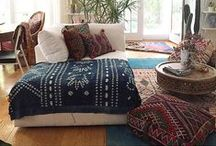 Boho / Authentic One of a kind rugs and pillows