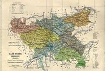 Old maps - 64 Hungarian counties / 64 magyar vármegye