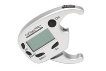 FatTrack PRO DIGITAL Body Fat Measurement System / The FatTrack PRO DIGITAL Body Fat Measurement System includes a highly technological professional-grade skinfold caliper to be used by individuals, personal trainers, and other professionals to monitor Body Fat % and Lean Body Mass. The unit is programmed with 3 and 7-site Jackson-Pollack formulas for estimating body fat % through skinfold measurements. The FatTrack PRO is also the first digital body fat caliper to calculate and displays lean body mass; where others claim to be. / by AccuFitness