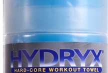 HYDRYX Hard-Core Workout Towel / The super-absorbent HYDRYX Hard-Core Workout Towel absorbs tons of sweat and cools you down after the most serious of workouts. The unique material absorbs more than a towel, holding up to 5 times its weight in water, with cooling properties to keep you fresh. It's like a chamois formulated for your body that stays cool all day long! / by AccuFitness
