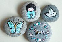 Painting pebbles & stones
