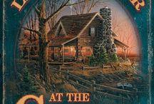 Log cabin et petite maison,sur roues ou fixe. / Log cabin