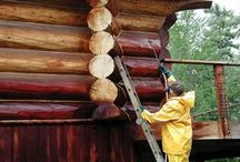 Log Home Maintenance / Maintain your log home for years to come.
