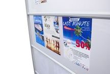 Notice Boards / At Rap Industries we have a range of notice boards and information screens to suit every environment. Our notice boards come equipt with grip rail technology either side of the board to allow you to display your information and materials on both sides.
